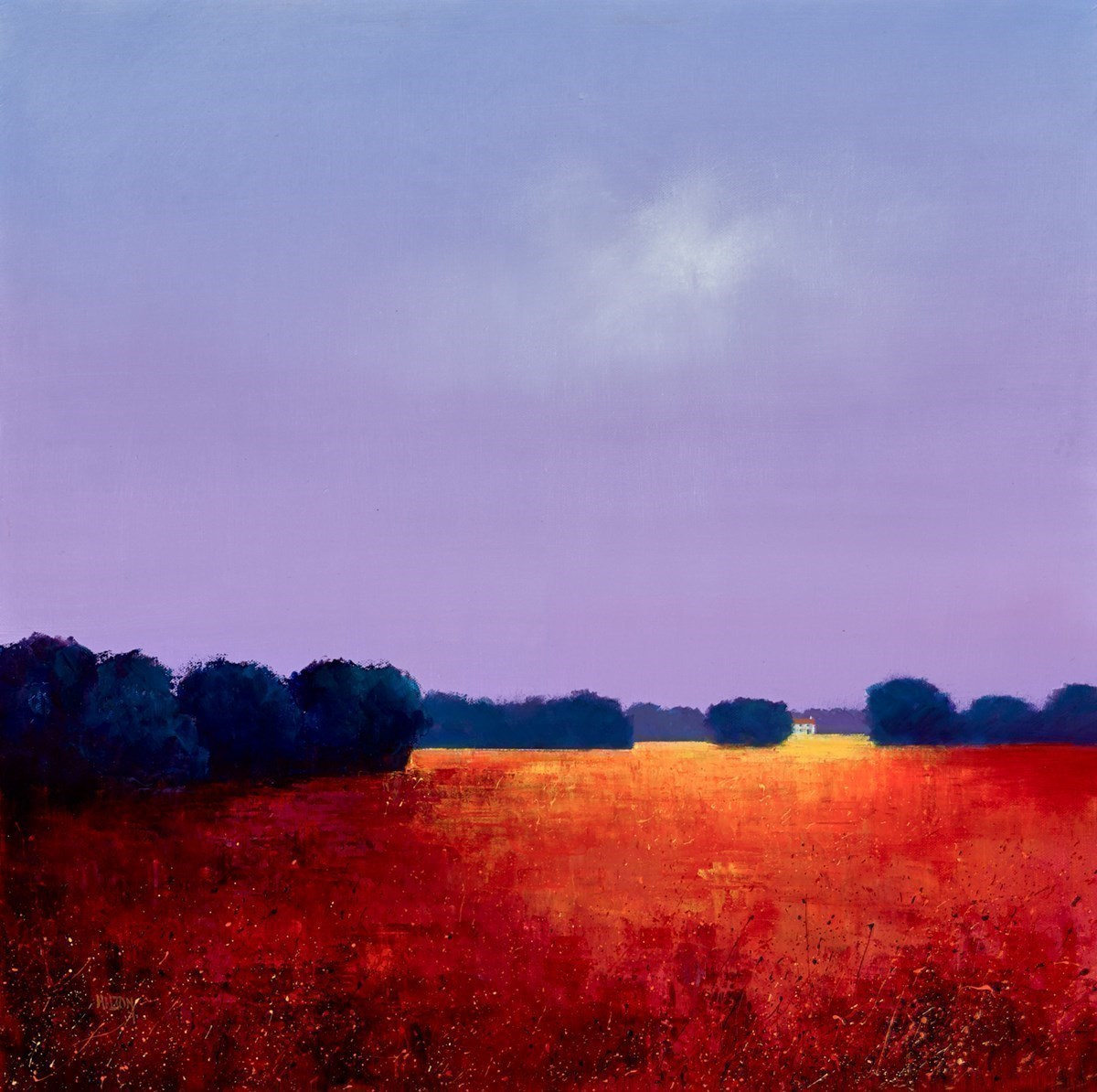 Autumn Approach by Barry Hilton -  sized 24x24 inches. Available from Whitewall Galleries